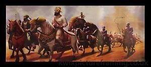 Guru-Gobind-Singh-Ji-avec-Khalsa-armee-en-taille-18-x-8