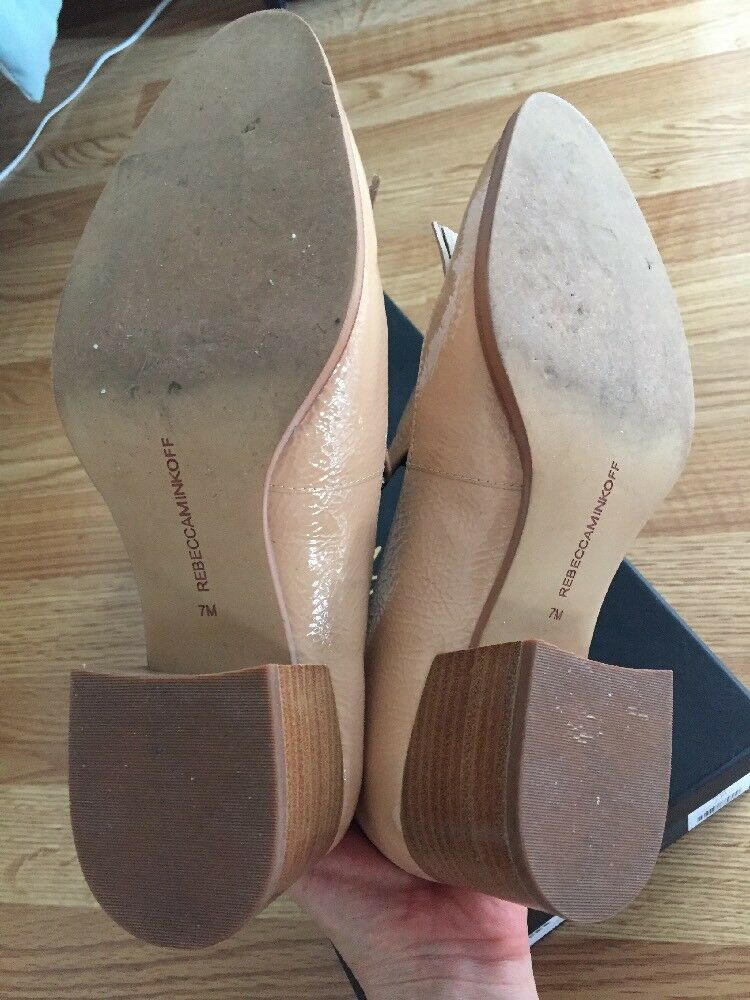 Rebecca Minkoff  Edie Tassel  Loafer in Nude Patent Patent Patent Leather Size 7 EUC 2c05ee