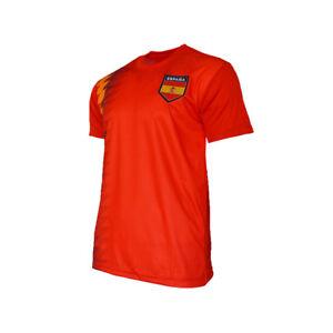 huge selection of 20004 85448 Details about Spain National Team Jersey Patriotic Espana Flag Shield Pride  Sports Soccer