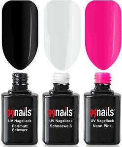 UV Nagellack Set - Glamorous 12ml / UV LED Lack Gel Polish Nails Made in Germany