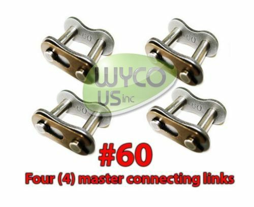 GO KARTS,4X4,SCOOTERS #60 4 MASTER CONNECTING LINKS #60 FOR ROLLER CHAIN #60