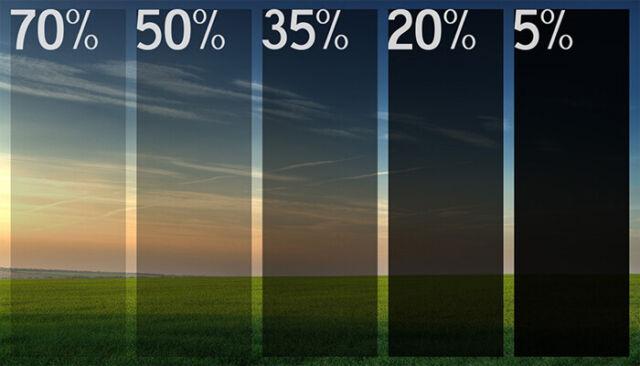 """NANO CERAMIC Window Tint Roll20""""X100' 05% 20% 35% 50% 70%"""