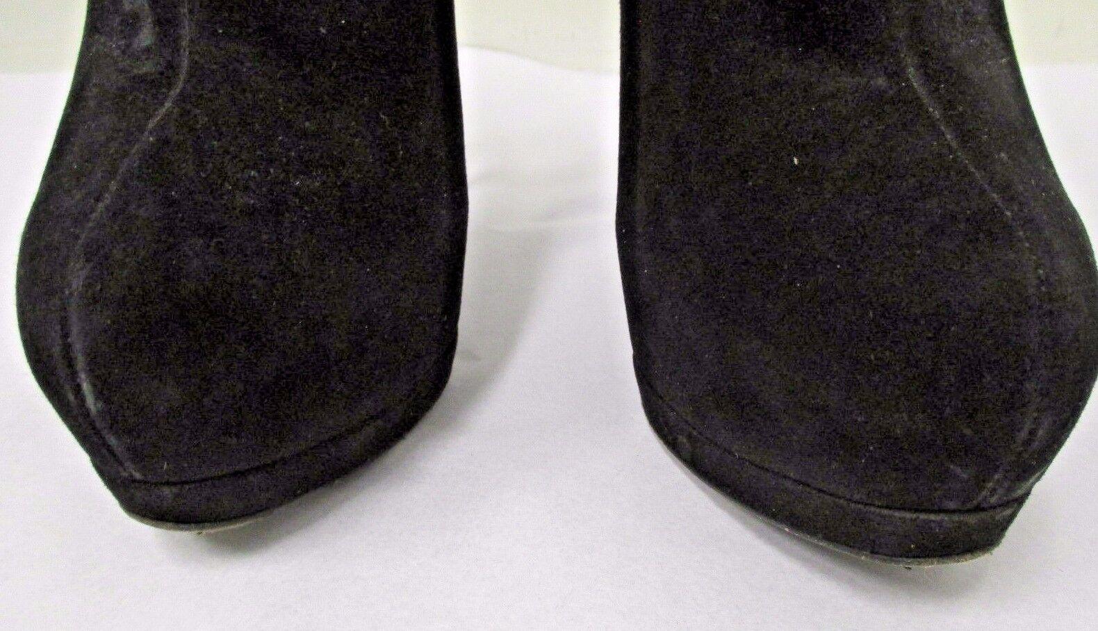 GIUSEPPE GIUSEPPE GIUSEPPE ZANOTTI Black Suede Simple Platform Ankle Booties w  Zipper  - Size 40 22860b