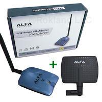 Alfa Awus036nhv 1500mw Usb Wireless Wi-fi Adapter + Apa-m04 7 Dbi Panel Antenna