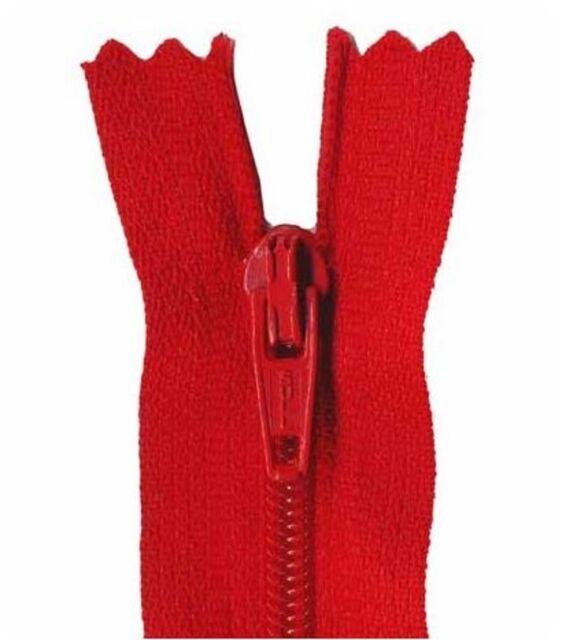 25cm Atom Red Dress Zip