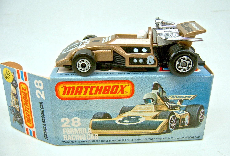 MATCHBOX SF nº 28d Formula Racing car Marron Top Dans Box