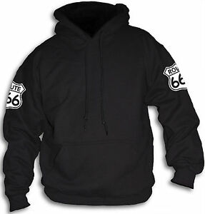 Mens-Womens-Route-666-Highway-To-Hell-Number-of-The-Beast-Biker-Hoody-Sm-2XL