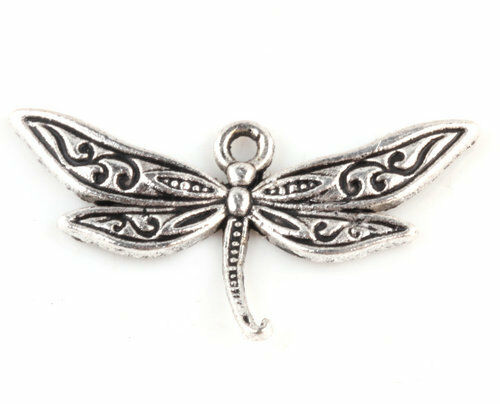 10/20/50/100PCS Dragonflies Tibetan Silver Charms Pendants Craft Jewelry Finding