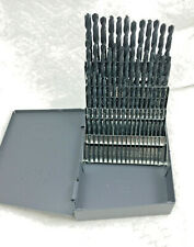 60 Pc Black Wire Number Jobber Drill Bit Set 1 To 60 Huot Case118 Degree