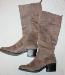 Image Is Loading Womens Relativity Re Scarlett Brown Taupe Suede Zip