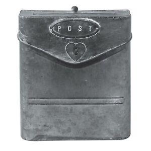 Briefkasten-mit-Deckel-aus-Zink-grau-Post-Vintage-Shabby-Industrie-Stil