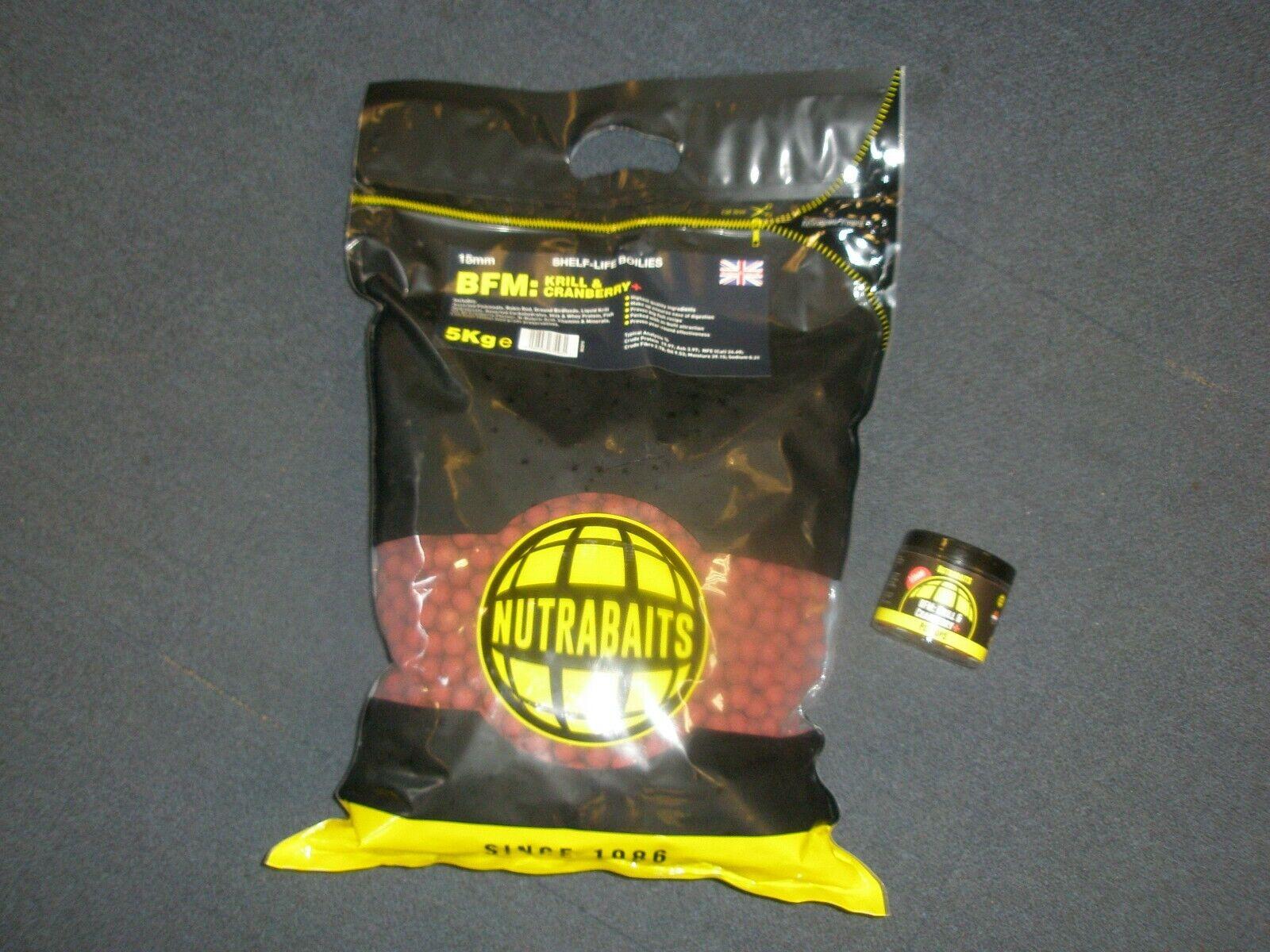 Nutrabaits 5kg BFM Krill + Cranberry 15mm Boilie + Pop up deal