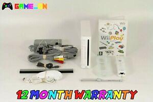Paquete-de-Consola-Blanca-Nintendo-Wii-PAL-controlador-Wii-Jugar-Juego-amp-Free-P-P