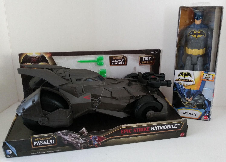 Batman Batmobile Superhero Unlimited  Action Figure DC Comics Movie Mattel Car
