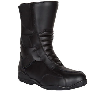 SPADA-TRI-FLEX-TOURING-WATERPROOF-MOTORBIKE-MOTORCYCLE-BOOTS-BLACK-Sale