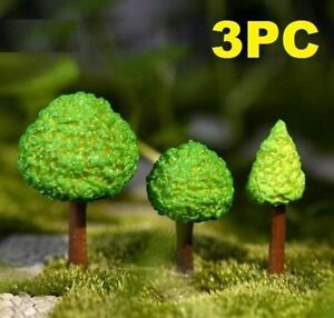 6X Miniature Tree DIY Ornament Decor Craft f// Fairy Garden Dollhouse Plant ME