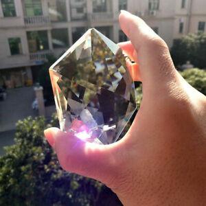100MM-Clear-Glass-Crystal-Large-Hexagram-Prisms-Pendant-Suncatcher-Fashion-US