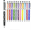 10x 2 in 1 diamond Crystal Touch Stylus Pen For iphone for samsung Tablet PC