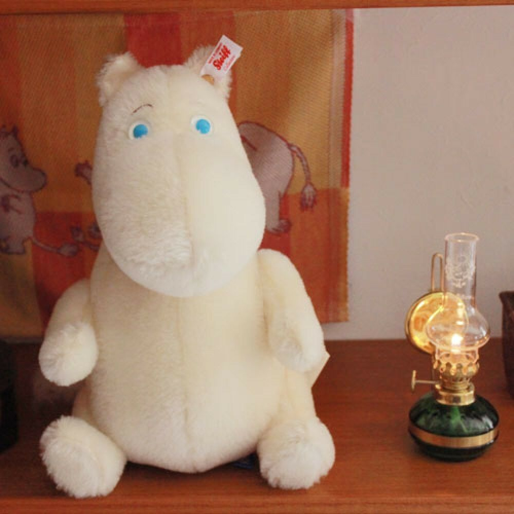 Moomin x Steiff Mohair Button in ear plushie Stuffed Animal Plush Limited Japan