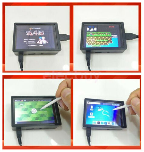 "3.5"" TFT LCD Display Touch Screen w// Case Fan For Raspberry Pi 4 RetroPie Game"