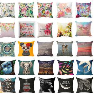 Beautiful-Flowers-Decoration-Cotton-Linen-Pillow-Case-Cushion-Cover-Home-Decor