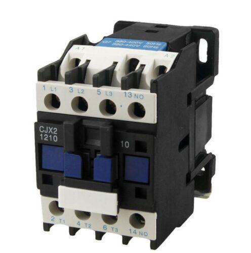 CJX2-1210 AC Contactor 12 Amp 3 Phase 3-Pole NO 380V 50Hz Coil