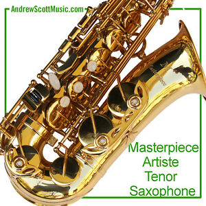 Tenor-Saxophone-New-Masterpiece-Artiste-Model-with-Gold-Plated-Mouthpiece