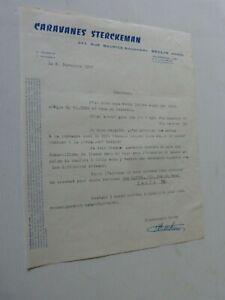 Catalogue-prospectus-lettre-a-entete-CARAVANES-STERCKEMAN-1957-signe