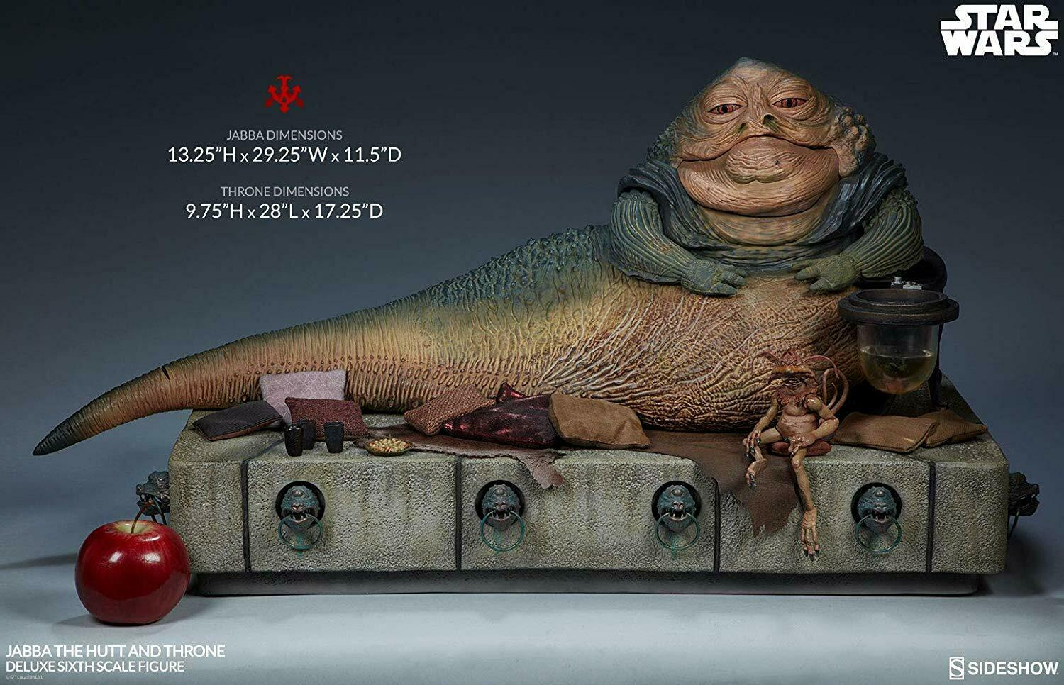 1 6 Scale Star Wars Jabba the Hutt and Throne Deluxe Sideshow 100410
