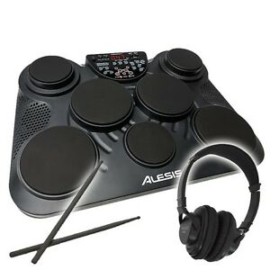 alesis compact kit 7 usb portable tabletop drum machine 7 pad kit inc drumsticks ebay. Black Bedroom Furniture Sets. Home Design Ideas
