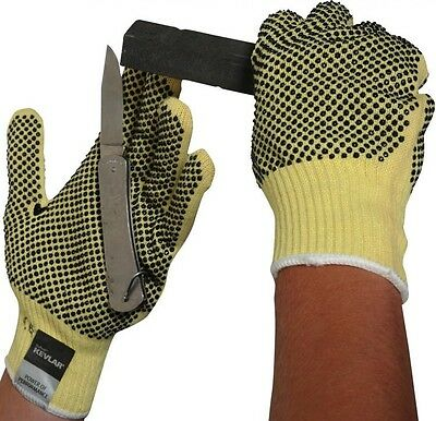 CUT RESISTANT DOTTED MADE WITH KEVLAR HEAVY WEIGHT GLOVES HANDLING  PROTECTION 3433821867557 | eBay