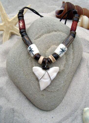 n189 T Großer Haizahn  Haifischzahnkette Sharktooth Haizahnkette Surferkette