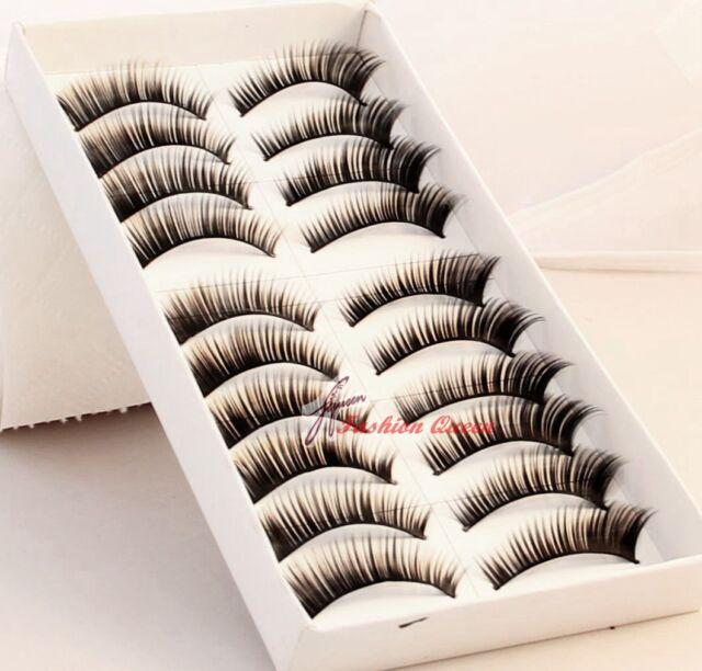 10 Pairs High Quality Thick False Fake Lashes Eyelashes