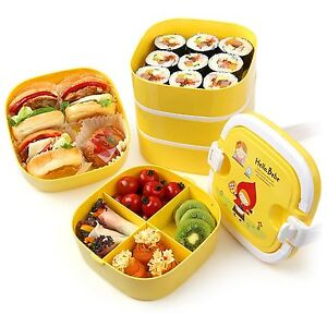 lock lock hello bebe baby lunch box five food container bento portable outing. Black Bedroom Furniture Sets. Home Design Ideas