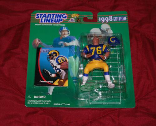 1998 Orlando Pace Starting lineup HOF Los Angeles  Rams Canton