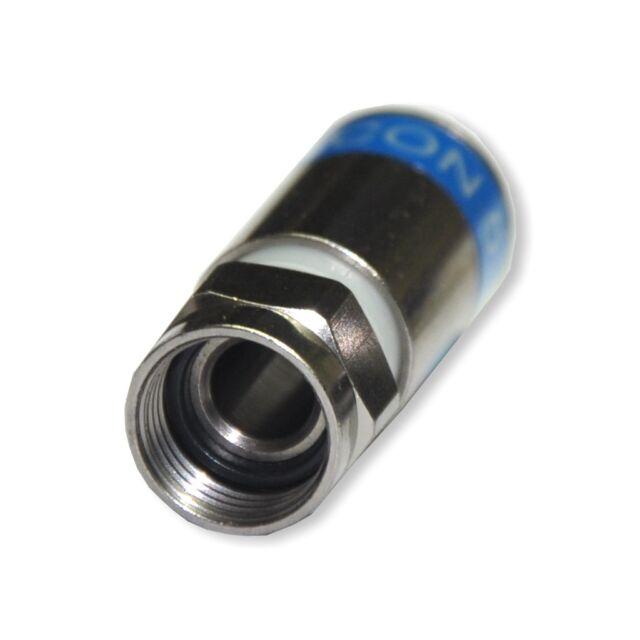 10 Stück F-Stecker Kompression 7mm