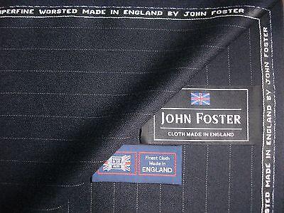 100/% superfine laine peignée drap tissu made in england by john foster 5.5 m