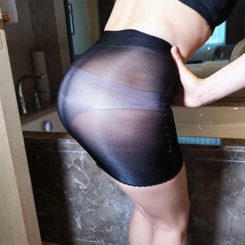 Stockings Sheer See Through Micro Skirt Mini Dress Tights Bodycon Shiny Lingerie