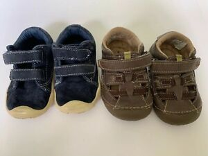Toddler-Lot-Of-2-Pairs-Of-Shoes-4-5-4-5W-Morgan-amp-Milo-Stride-Right