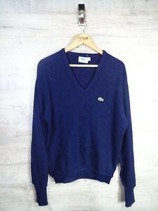 VTG-Terrasse-Wear-Lacoste-80s-blau-IZOD-Sweatshirt-Sweater-Pullover-ref21-gross