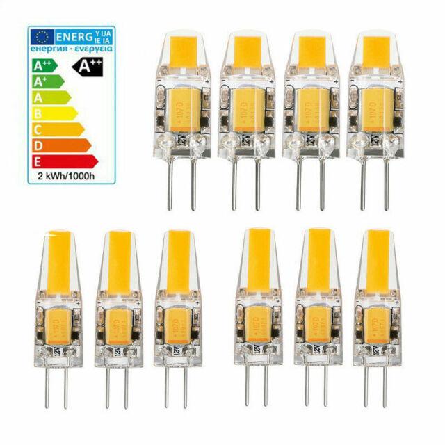 Dimmable Mini COB Light Bulb 10pcs G4 5W 6W LED Lamp AC DC 12V Replace Halogen