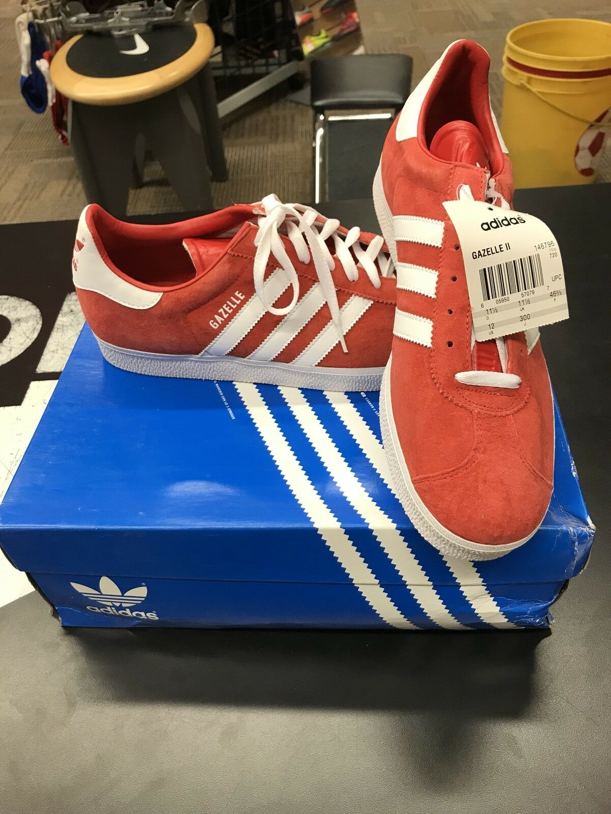 Adidas Men's Gazelle II Shoes - Red & White Cheap women's shoes women's shoes