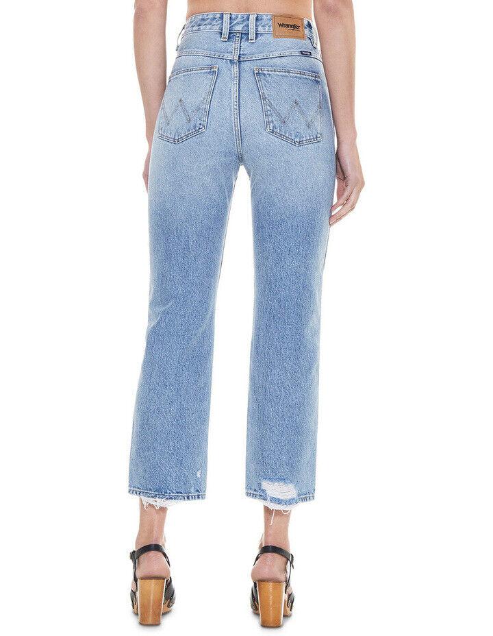 ba94503ecd NEW Wrangler Hi Birkin Jean Strip Vintage Blue