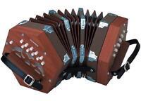 Hohner D40 Concertina Accordion W/ Gig Bag