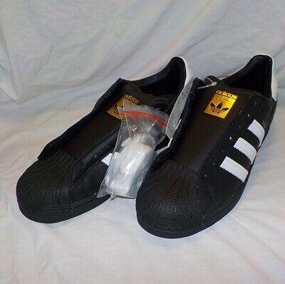 Adidas Originals SUPERSTAR LACELESS Shoes BLACK & WHITE ...