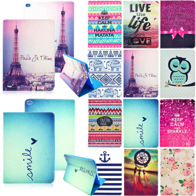 Cute Cartoon Animal Smart Folio Flip PU Leather Stand Case Cover for Tablet iPad