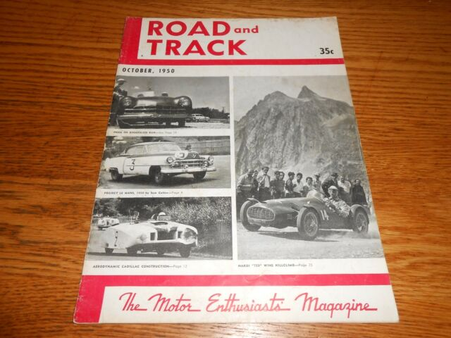 OCTOBER 1950 ROAD & TRACK ORIGINAL and VERY GOOD OCT. 50 MAGAZINE Vol. 2 No. 3