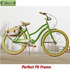 "affb628d217 Huffy Cruiser Bike 26"" Green Women's Comfort City Beach Commuter Bicycle  Shimano"