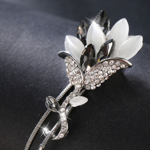 Cn /_ de Mujer Diamante Imitacion Flor Collar con Colgante Largo Borla Suéter De