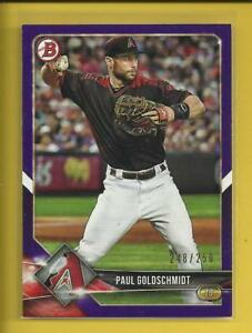 Paul-Goldschmidt-2018-Bowman-PURPLE-Ser-d-250-Dbacks-St-Louis-Cardinals